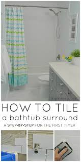 Bathroom Ceramic Tile Design Ideas Best 25 Tile Tub Surround Ideas On Pinterest How To Tile A Tub