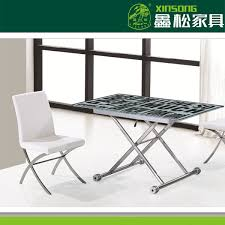 2014 hebei xinsong modern folding glass dining room table buy