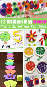 12 brilliant may flower math activities for kids
