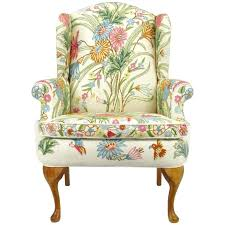 Occasional Dining Chairs Floral Upholstered Chair New Black White Floral Fabric Upholstered