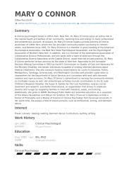 Psychiatrist Resume Clinical Psychologist Resume Samples Visualcv Resume Samples