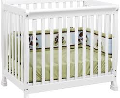 Solid Wood Mini Crib by Table Stunning Mini Canopy Bed Painted In White At Baby Boy