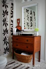 like old dresser converted into bath vanity for the home