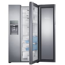 Energy Star Exterior Door by Shop Samsung 21 5 Cu Ft Side By Side Refrigerator With Ice Maker