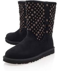 ugg womens eliott boots ugg black eliott studded sheepskin boots in black lyst