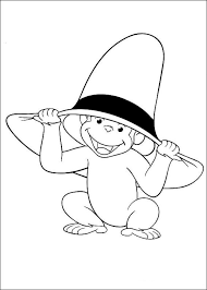monkey george coloring page 1st b day pinterest monkey