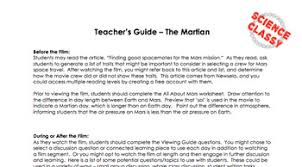 the martian movie worksheet video viewing guide lesson plan tpt