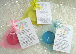 Baby Shower Gifts To Guests 10 Blue Baby Shower Favours Scented Candles Lovely Little U0027thank
