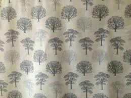 Tree Curtain Marson Trees Grey Textile Express Buy Fabric Online