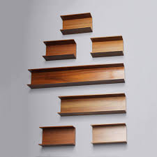 walnut wall shelves by wilhelm renz 1960s set of 7 for sale at