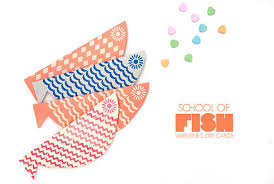 fish valentines make a school of fish for s day