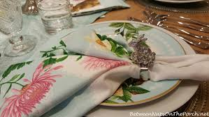 Williams Sonoma Table Linens - spring and easter table setting ideas