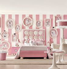 girls bedroom puppy bedroom theme with pink color accent for