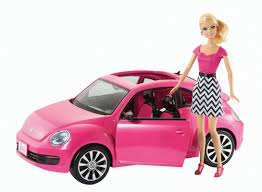 barbie red cars barbie volkswagen beetle and doll