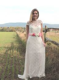 bohemian brautkleid brautmode brautkleider boho hippie vintage light lace bridal