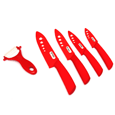 Discount Kitchen Knives 5pcs Zirconia Ceramic Knife Kitchen Fruit Knife Peeler Cover