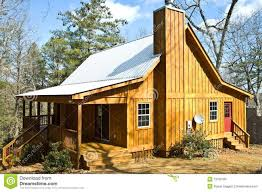 Wooden House Plans Wooden House With Tin Roof Royalty Free Stock Photo Image