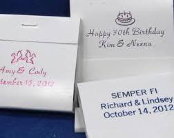 matchbook wedding favors custom matchbooks etsy