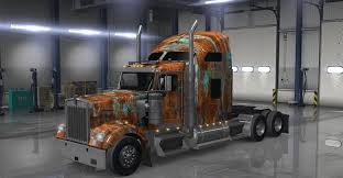 kenworth truck w900 kenworth w900 truck rust american truck simulator mod ats mod