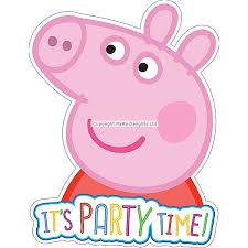 peppa pig birthday peppa pig birthday invitations partyworld
