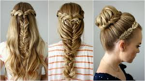 hair styles for back of 3 back to school hairstyles missy sue youtube