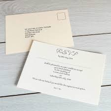 Wedding Invitation Reply Card Card