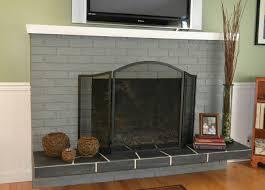 roman brick fireplace hearth ideas gray painted brick fireplace