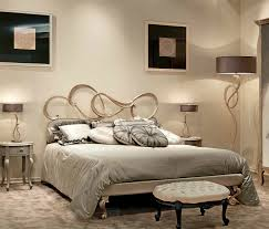 beautiful metal headboards for double bed with interior design