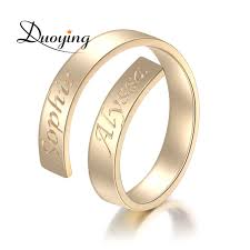 name ring gold duoying custom name ring personalized letter ring gold dainty