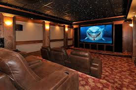 media room transitional home theater atlanta by the curtain