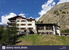 italy aosta valley valnontey paradisia hotel stock photo
