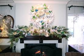 White Christmas Centerpieces - fireplace christmas decoration ideas of holiday interior decor