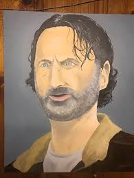 Meme Painting - psbattle this painting of rick grimes funny pinterest rick grimes
