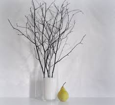 woodland home decor branches black grey painted tree branches