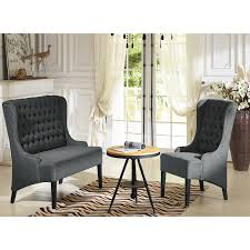 baxton studio vincent wingback chair hayneedle