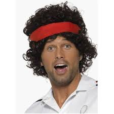 80s headbands smiffy s eighties tennis player wig with headband smiffys
