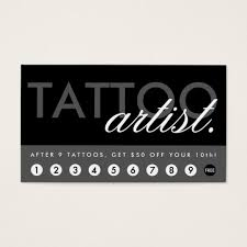 tattoo artist business card templates archives city cards
