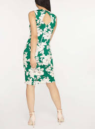 petite green floral print bodycon dress petite dresses dresses