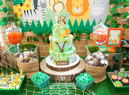 romeo u0027s jungle safari themed first birthday party