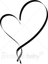 black and white ribbon black and white ribbon heart clipart heart baby clipart