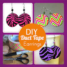 duct earrings blukatkraft diy duct earrings