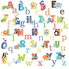 Alphabet Wall Decals For Nursery Animal Alphabet Baby Nursery Peel Andstick Wall