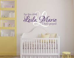 wall decals for girls for this child i have prayed wall decal for this child i have prayed wall decal girls name wall zoom