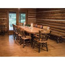 Rustic Oval Dining Table Rustic Hickory Pedestal 72 Oval Dining Table With 10 Chairs