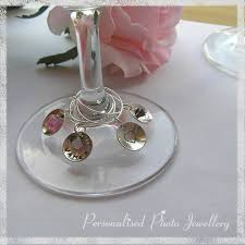 wine glass with initials personalised wine glass charms sted with you folksy