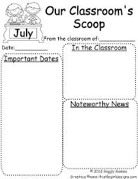 9 best images of free downloadable preschool newsletter templates