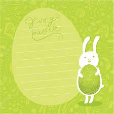 cute vector background easter bunny hold ornate easter egg