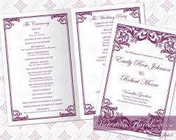 wedding ceremony program templates diy printable wedding ceremony program template 2335524 weddbook
