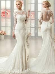 robe mariã e manche longue robe de mariée sirène avec manches longues pas cher à traîne