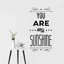 affiche chambre vous êtes mon soleil quotes wall sticker home decor affiche